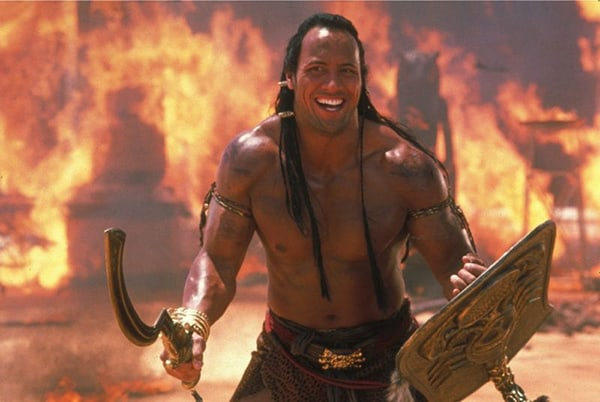 Dwayne Johnson trong phim The Scorpion King