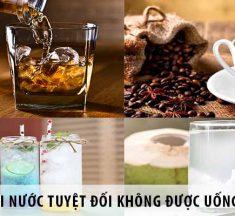 5 loại nước tuyệt đối không được uống vào buổi tối
