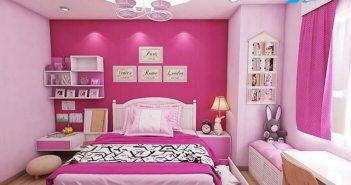 Mẹo bài trí phòng ngủ dễ thương cho bé gái thích mê
