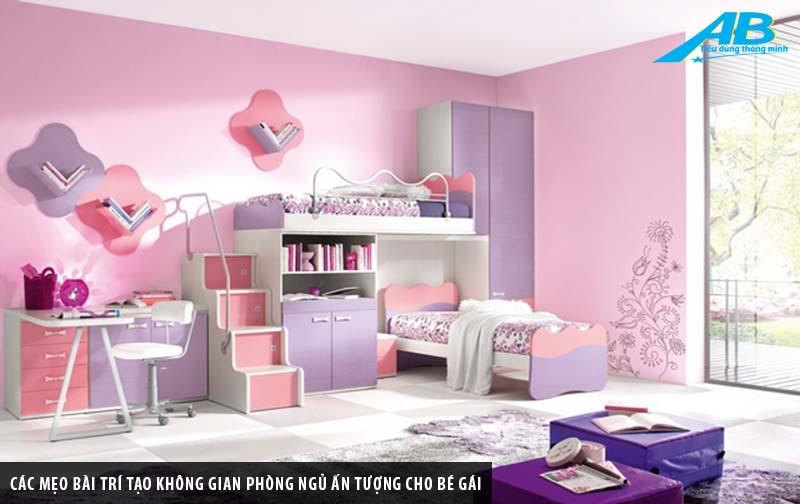 Các mẹo bài trí tạo không gian phòng ngủ ấn tượng cho bé gái