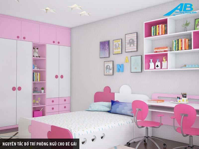 Nguyên tắc bố trí phòng ngủ cho bé gái