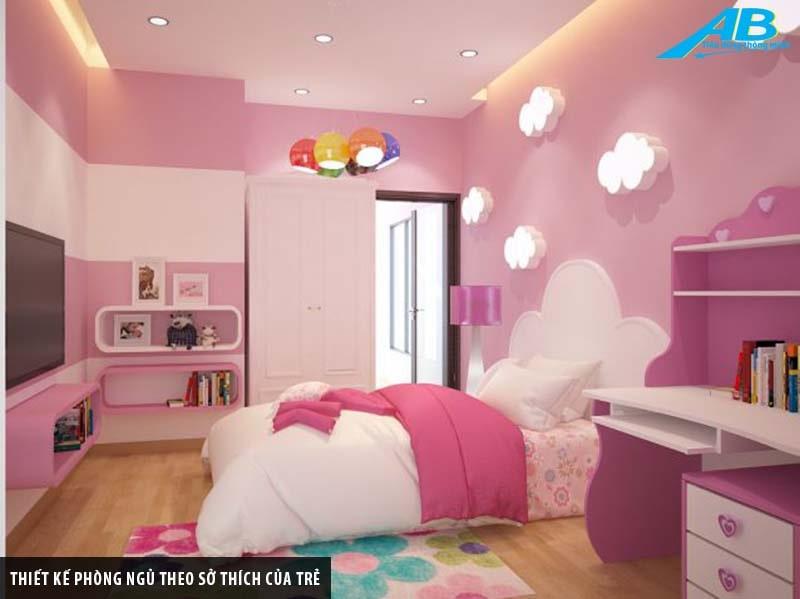 Thiết kế phòng ngủ theo sở thích của trẻ