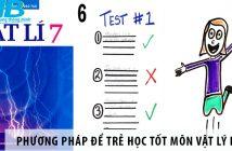 Phương pháp để trẻ học tốt môn Vật lý lớp 7