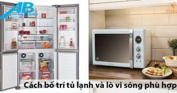 Cách bố trí tủ lạnh và lò vi sóng phù hợp trong nhà