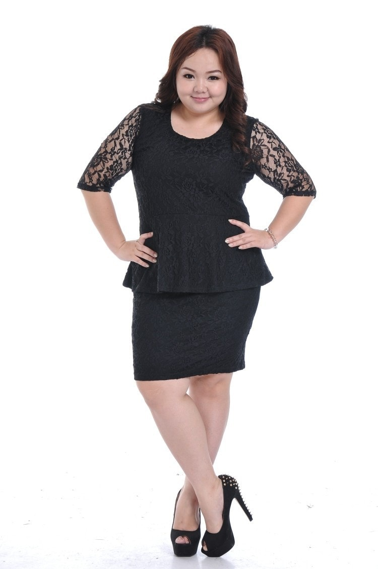 Váy peplum điệu đà cho bạn nữ béo bụng