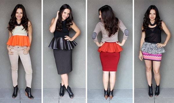 Váy và áo peplum