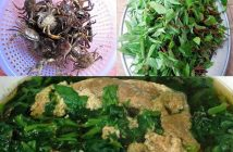 Cách nấucanh rau đay cua