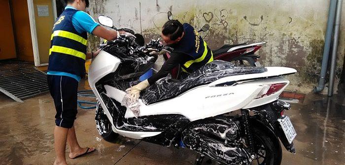 Tìm hiểu về phương pháp rửa xe bọt tuyết