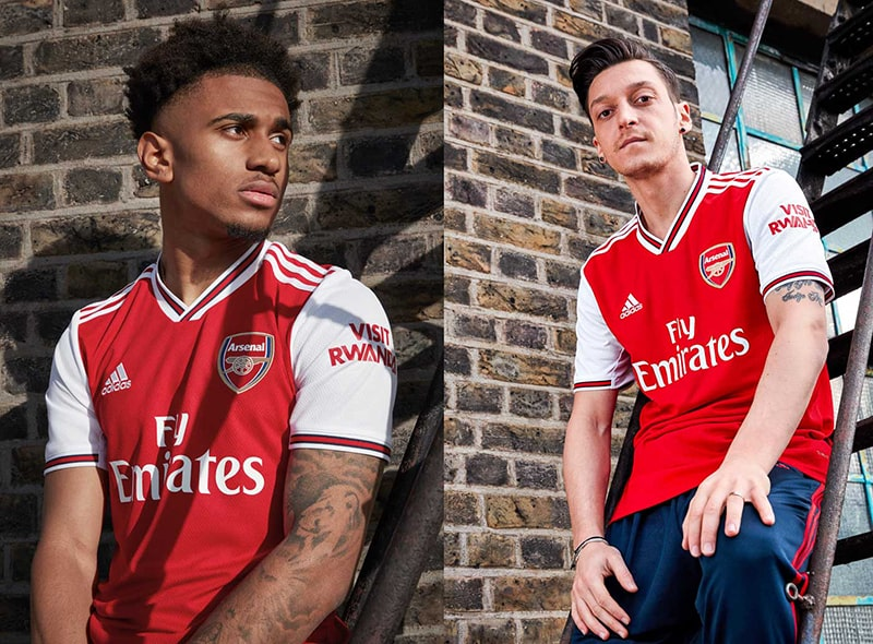 Mẫu áo trên sân nhà của Arsenal mùa giải 2019