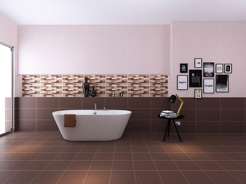 Gạch ốp tường nhà tắm thường có giá thành vừa phải