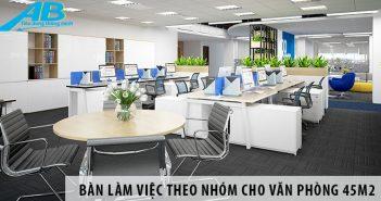 Mua bàn làm việc theo nhóm cho văn phòng 50m2
